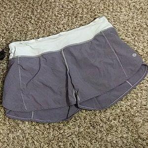Woman's LULULEMON Gray Running Shorts Size 8
